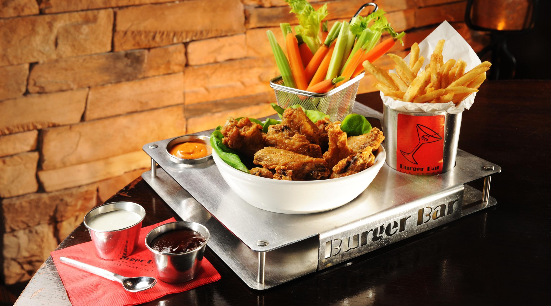 Burger bar mandalay bay for Food bar in restaurant