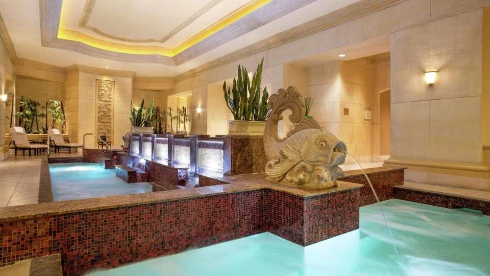 The hotel spa mandalay bay mandalay bay for Koi pool and sauna